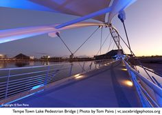 Tempe Town Lake Pedestrian Bridge (photo by Tom Paiva), another finalist in the ASCE Bridges Photo Contest.
