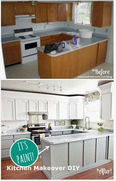 123 Best Inspirations Smart Home Renovation Ideas On A Budget : Huis Renovatie Diy Kitchen Decor, Rustic Kitchen, New Kitchen, Kitchen Ideas, Kitchen Board, Kitchen Updates, Kitchen Small, Kitchen Paint, Kitchen Redo