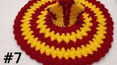 Crochet Home, Easy Crochet, Crochet Baby, Crochet Flower Tutorial, Crochet Flowers, Laddu Gopal Dresses, Back Hand Mehndi Designs, Bal Gopal, Ladoo Gopal