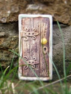 Fairy Door Rectangal Ceramic Handmade.