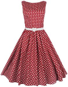 Vintage Lindy Bop red and white polka dot dress www.finditforweddings.com sleeveless party dress