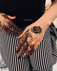 Modern Henna Designs, Rose Mehndi Designs, Latest Henna Designs, Back Hand Mehndi Designs, Finger Henna Designs, Mehndi Designs 2018, Mehndi Designs For Girls, Mehndi Designs For Beginners, Dulhan Mehndi Designs