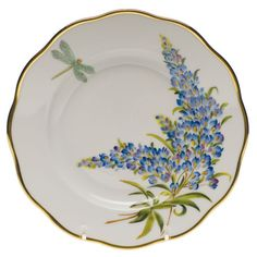 American Wildflower Texas Bluebonnet Salad Plate 7.5 In D    Gracious Style