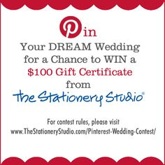 Pin to Win $100 Gift Certificate from The Stationery Studio!