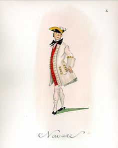 French Army 1735 by Gudenus - Infantry Regiment Navare