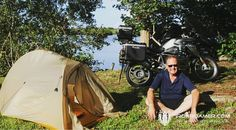 Camping is a necessity for a motorcycle adventure. I love my Big Agnes Tent. Great Service too. Motorcycle Adventure, Outdoor Gear, Tent, Around The Worlds, Camping, Big, Campsite, Store, Tentsile Tent