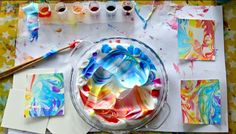 How to Make A Beautiful Marbled Paper | The Art 123