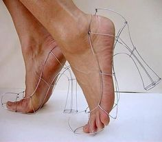 Chicken wire heels are all the rage if you like to disfigure your feet!
