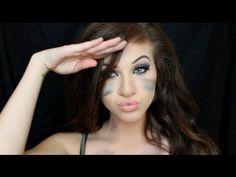 army halloween makeup tutorial