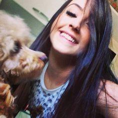 Mariana Nolasco e cão. ❤