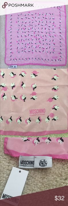 NWT Moschino Cheap and Chic Silk Square Scarf New with tag. 100% authentic Moschino Accessories Scarves & Wraps