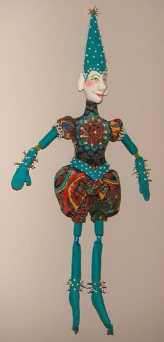 Jester Doll I made from an Edwina Sutherland pattern in Soft Dolls & Animals magazine.