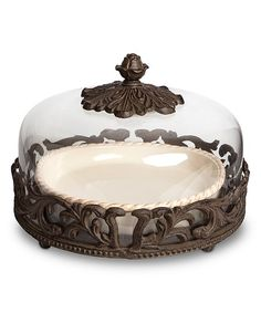 The GG Collection Acanthus Pie Plate | zulily