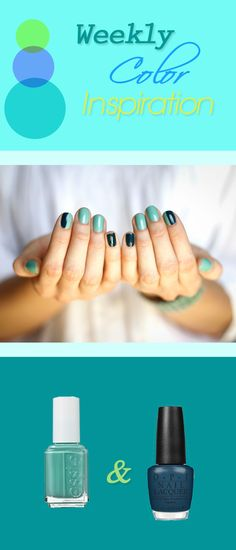 one nail, two colors (index fingers) - Amanya