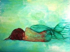 mermaid watercolour paintings - Google Search