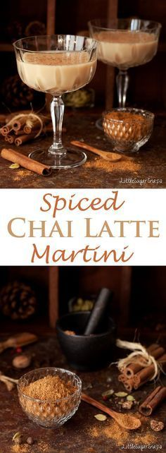 Spiced Chai Latte Martini: What better way to enjoy the flavours of Chai Spice that in a cocktail. Smooth & slightly sweet - perfect for autumn& winter. width=