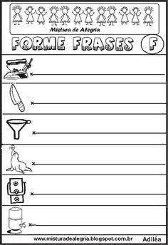 Formando Frases Com Os Desenhos Atividades Para Alfabetização