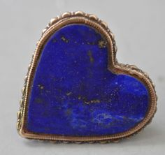 lapis heart rings also was a mirror but love the color of this lapis , has a gold vein in it. (private collection Linda Pastorino)