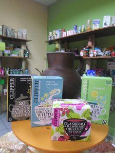 gran varieda de tés e infusiones