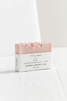 Fig + Moss Bar Soap. Urban Outfitters. Pink Grapefruit + Salt.