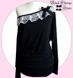 romantic Bohemian Bat long sleeve shirt de B-C-Design-Factory sur DaWanda.com