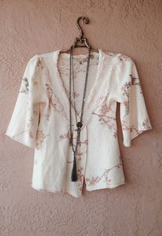 Knitted and knotted by anthropologie sweet floral wool crossover kimono