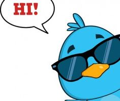 Funny blue bird cartoon vector set 01