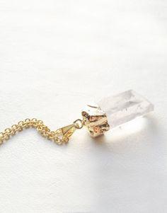 25€ - QUARTZ GOLD NECKLACE   SRTALAURIS, jewelry&design Ideas Para, Addiction, Jewelry Design, Gold Necklace, Quartz, Stud Earrings, Shop, Closet, Accessories