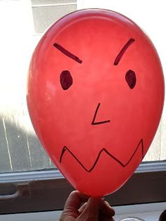 Letting it out S-L-O-W-L-Y Don't let angry balloon pop! An awesome visual to help kids learn to let their anger (or can work for anxiety, stress, whatever they are struggling with) out slowly.I have one student I am definitely going to use this for! Counseling Activities, Therapy Activities, Play Therapy, Therapy Ideas, Calming Activities, Preschool Activities, Feelings Activities, Team Activities, Preschool Colors