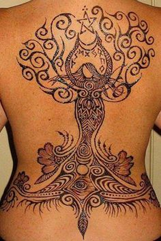 mother goddess tree of life crescent moon pentacle