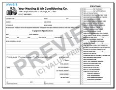51 best HVAC Forms images on Pinterest   Flat rate, Invoice template ...