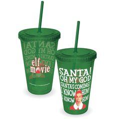 "RetroFestive.ca - Elf ""Santa's Coming!"" - Acrylic Travel Cup don't worry KT. ;)"