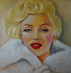 Simply Marilyn  Painting in acrylic, screen rises  Madidas: 110x110  Author: Manuel Couto