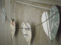 Last One! Vintage Map of Paris  Recycled Paper Garland  by MaisyandAlice.