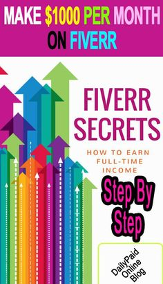 How To Make $1000 Per Month On Fiverr - Step By Step Guide