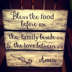 Custom Made Large Handmade Wooden Kitchen Dining Room Family Sign. $45.00, via Etsy. #LGLimitlessDesign #Contest