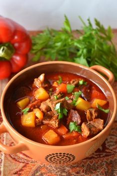 Kielbasa, Pot Roast, Soup Recipes, Chili, Beef, Ethnic Recipes, Kitchen, Food, Recipies