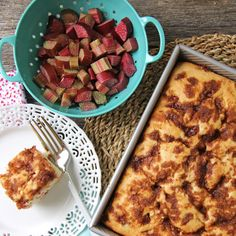 This Rhubarb Buttermilk Cake is a perfect recipe for all of your garden fresh rhubarb. It makes a great brunch or snack cake!