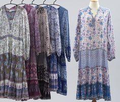Cult of Aphrodite Vintage by CultofAphrodite Funky Fashion, Boho Fashion, Womens Fashion, Indian Dresses, Indian Outfits, Gauze Dress, Vintage Hippie, Bohemian Lifestyle, Ethnic Dress