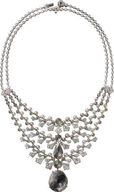CARTIER. Necklace - platinum, one 20.09-carat very light brown VS1 type IIa…