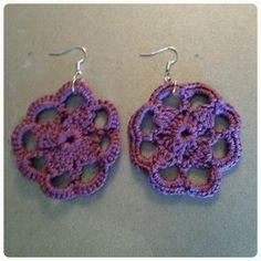Crocheted Earrings www. Crochet Earrings, Pattern, Crafts, Jewelry, Design, Tutorials, Accessories, Jewellery Making, Manualidades