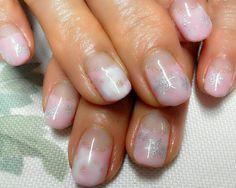 delicate snowflake nails