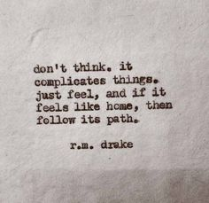 Look for your own path
