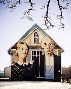 Painting on a side of a barn in Iowa