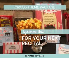 Recital Program Cover and Refreshment Plans all Under One Big Top!
