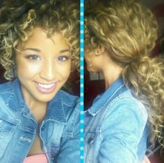 Natural curly hair ponytail jadahdoll
