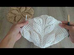 Crochet Leaves, Crochet Motifs, Crochet Diagram, Crochet Stitches, Crochet Patterns, Bag Crochet, Crochet Handbags, Crochet Purses, Crochet Baby