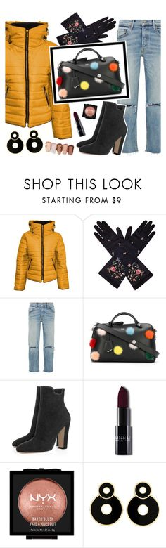 """""""Puffed up!"""" by krgood7 ❤ liked on Polyvore featuring Malaika, GRLFRND, Fendi, NYX, Winter, essentials, statementbag and puffercoats"""