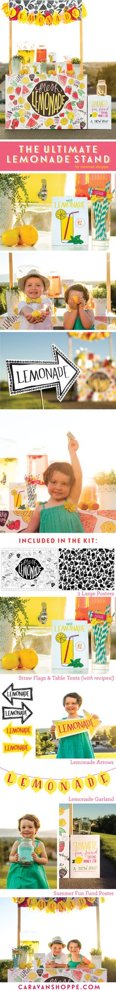 Lemonade Stand | The Ultimate Lemonade Stand printable download from Caravan Shoppe! Think of the possibilities...
