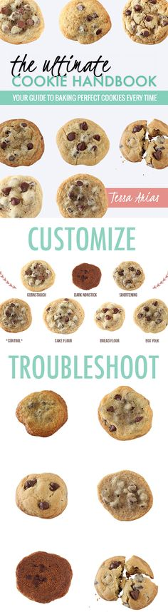 Create your own PERFECT cookie recipes!! How to customize to make your cookies more soft, chewy, crisp, thick, or thin, and how to troubleshoot baking fails!